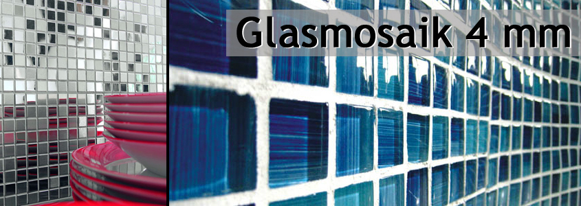 Glasmosaik Transparent 4mm