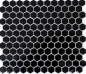Preview: Mosaik Fliese Keramikmosaik Hexagon schwarz glänzend 11A-0302
