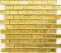 Preview: Mosaik Fliese Transparent Transluzent Brick Glasmosaik Crystal gold Struktur 120-0784