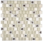 Mobile Preview: Mosaik Fliese Transparent Transluzent Kunststoff beige Glasmosaik Crystal Stein beige 82BM-0115
