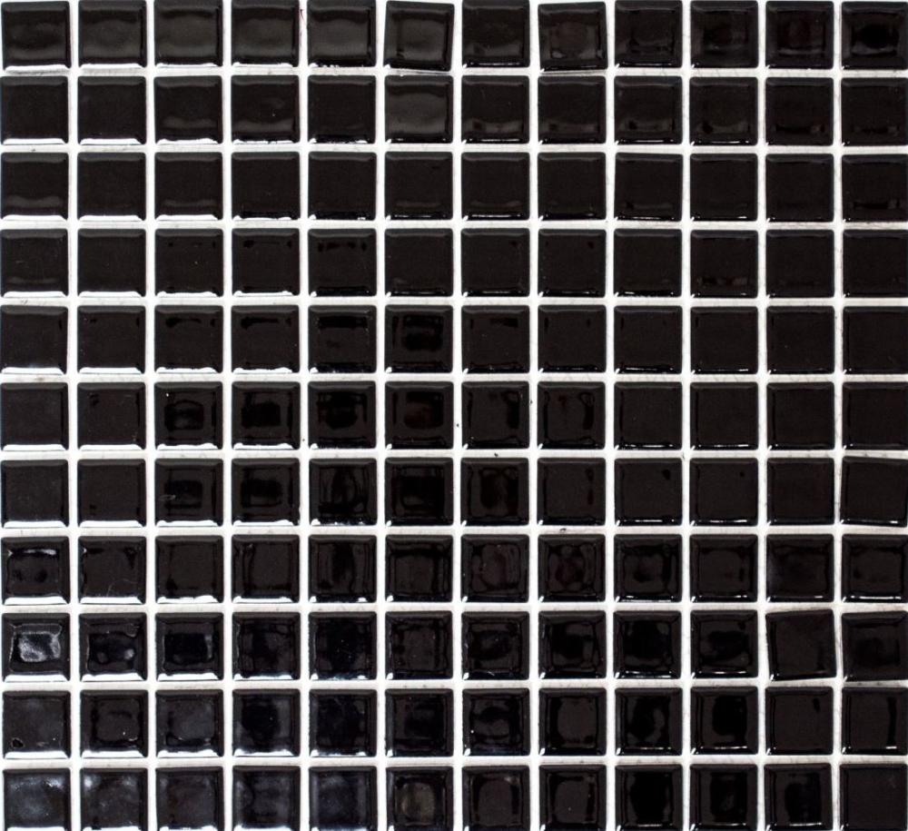 Mosaik Fliese Keramik Hexagon schwarz glänzend Fliesenspiegel Küche 11F-0301