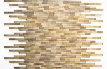 Mosaik Fliese Aluminiummosaik braun Verbund Alu Brick gebürstet Coloured Dark 49-L103D