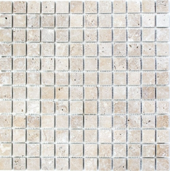 Mosaik Fliese Travertin Natursteinmosaik walnuss Noce Antique Travertin 43-44023