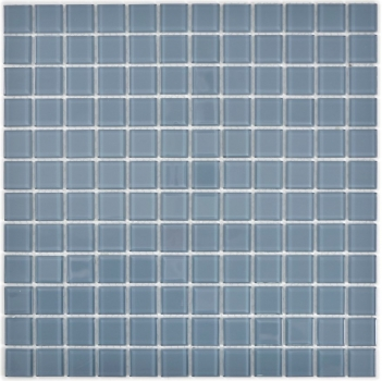 Mosaik Fliese Transparent Transluzent Glasmosaik Crystal grau 63-0202