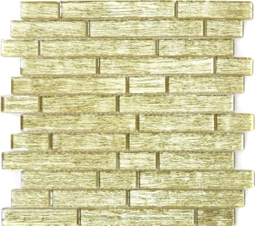 Mosaik Fliese Transparent Transluzent Verbund Glasmosaik Crystal Chic gold 86-8CGO