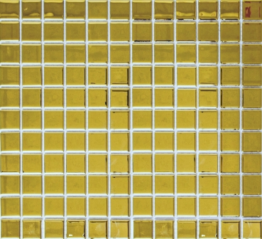 Mosaik Fliese Transparent Transluzent Glasmosaik Crystal EP gold 60-0706