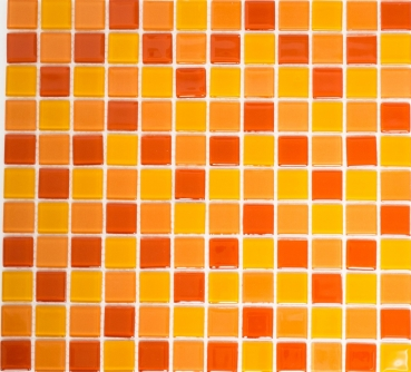 Mosaik Fliese Transparent Transluzent gelb orange rot Glasmosaik Crystal gelb orange rot 62-0802