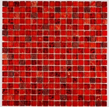 Mosaik Fliese Transparent Transluzent rot Glasmosaik Crystal Resin rot 92-0904