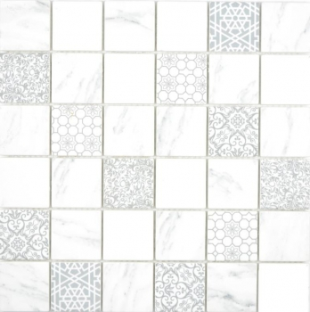 Glasmosaik Mosaik ECO Carrara