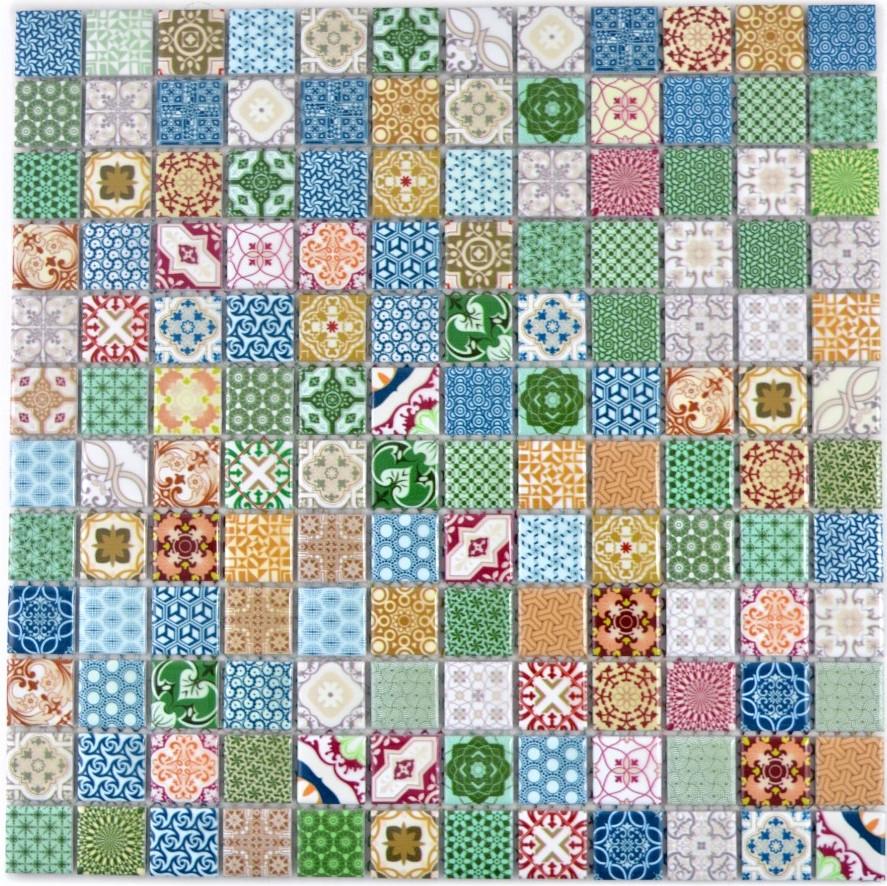 Mosaik Netzwerk Retro Vintage Mosaik Fliese