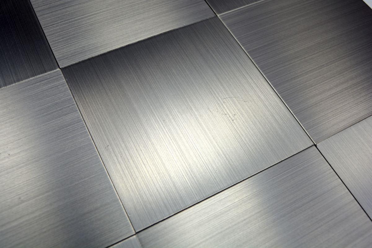 Aluminium Mosaikfliesen Gagarin Silber